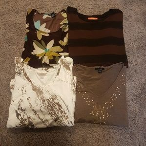 Bundle of 4 Tops Size Large